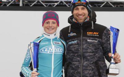 Aggie Walsma wint 1000 meter op Weissensee